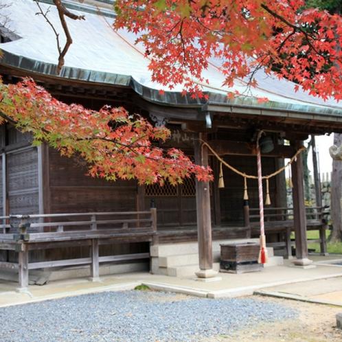 秋の篠山は、山の中でも、お寺や神社でも紅葉を愉しんでいただけます。