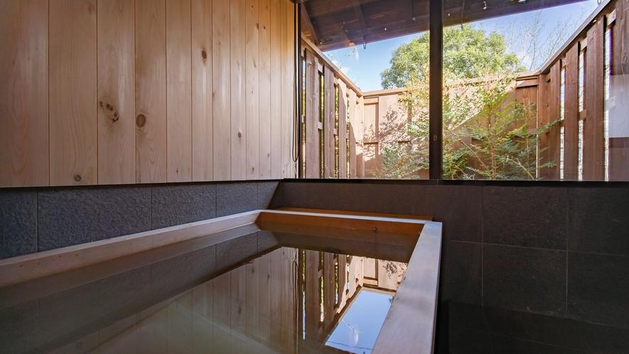 【VMGスイート・701】プライベート庭園を眺めながら総檜造りの広々とした浴槽に浸かれる「庭見風呂」