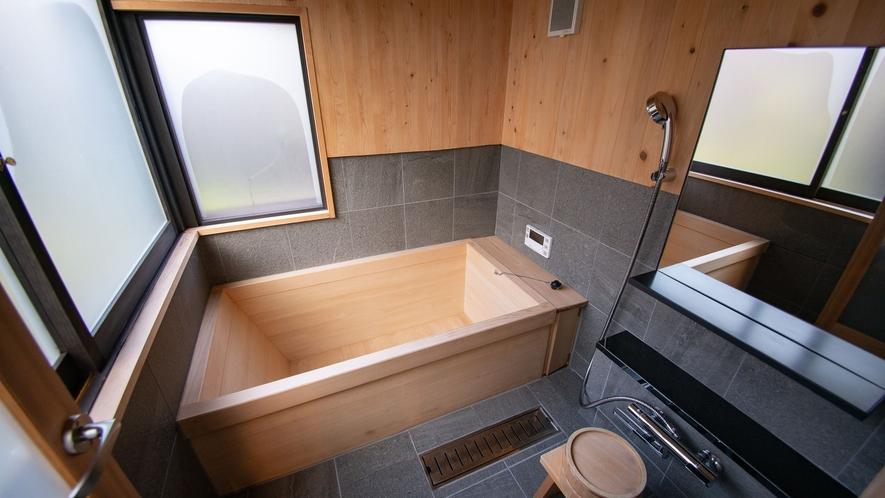 【VMGプレミア・1003】やさしい木の香りとぬくもりが包み込む檜風呂。