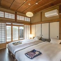 ペットと泊まれる スタンダードA【2名定員】ドックラを備え、わんちゃんにも嬉しい造りの客室です。