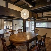 一棟貸切【6名様定員】キッチン、リビング付でまるでお家のようにお寛ぎいただける客室です。