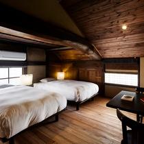 【オナエ104室】重厚感のある梁に古民家の趣感じる一室