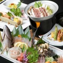 【漁師会席】日南の味覚がふんだんに詰まった「漁師会席」をご堪能下さい。
