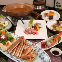 【カニすき&宮崎牛鉄板ステーキ】身がぎっしりのカニと日本一!宮崎牛。