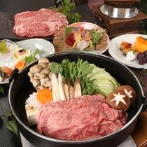 【宮崎牛のすき焼き&和会席】最高級ランク!宮崎牛を贅沢にすき焼きで。