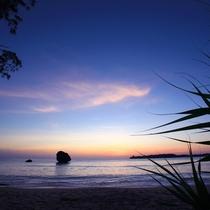 【風景】月ケ浜の夕日