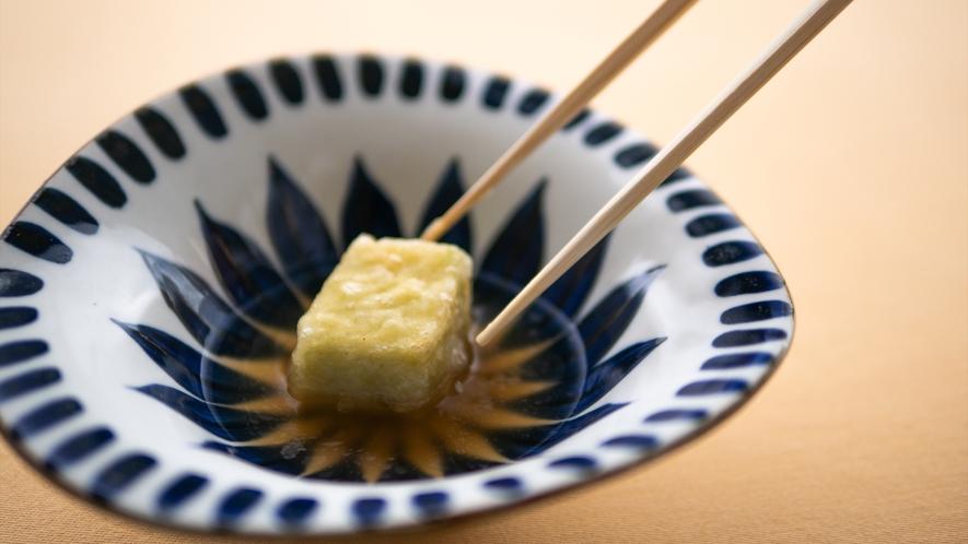 自家製そら豆の豆腐べっこう飴