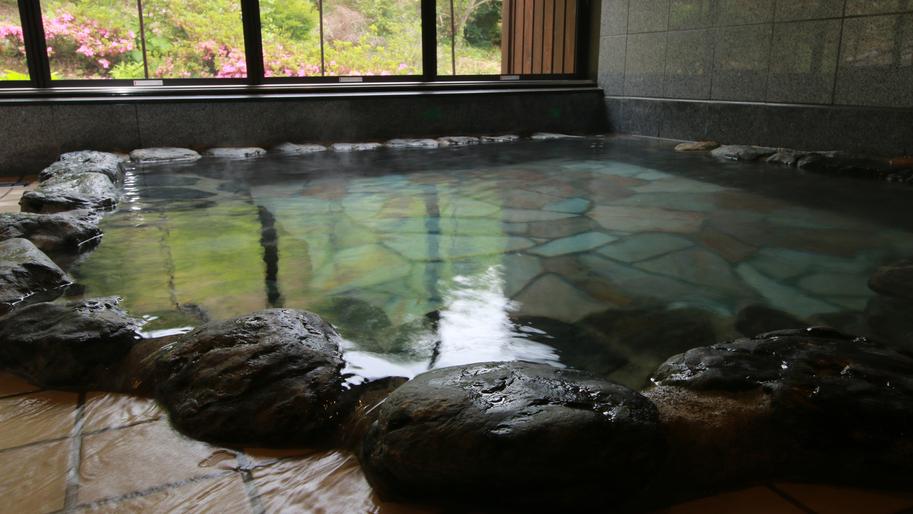 ■【美肌の湯】つるつるとした肌ざわりが気持ち良い温泉です。