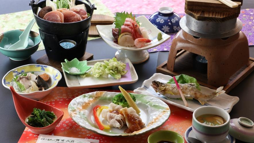 ■【お食事/冬季】~地物満喫・釜飯コース~炊きたて釜飯と奥久慈しゃも鍋付き