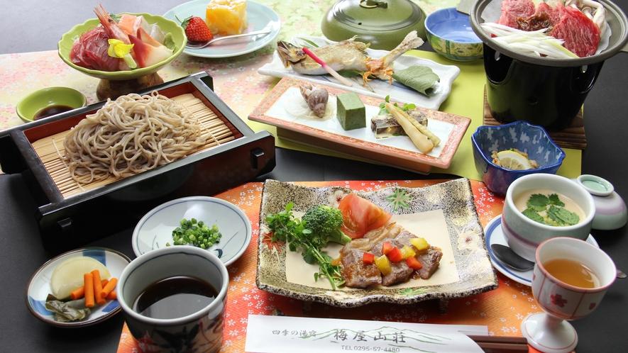 ■【お食事】~贅を極める・茨城グルメ饗宴~常陸牛のステーキと常陸秋蕎付き