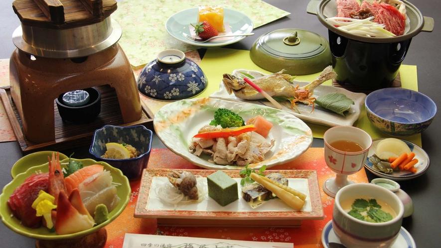 ■【お食事/夏季】~地物満喫・釜飯コース~炊きたて釜飯と牛の自家製みそ焼き付き