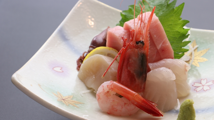 ■【お食事】~四季と移ろう逸品~新鮮な旬魚のお刺身や名物・こんにゃくのお刺身など季節の味覚をご提供