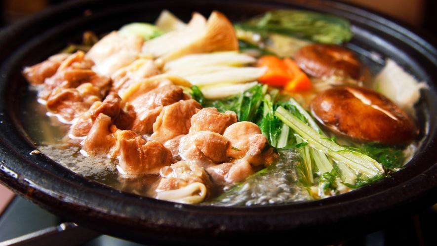 ■【お食事】~茨城自慢の味覚~奥久慈軍鶏の旨味を凝縮。しゃも鍋は一度ご賞味あれ。