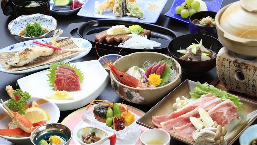 ◆ご夕食/最上牛ステーキを中心に真心込めたお料理をご用意いたします※イメージ
