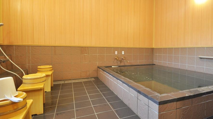【大浴場】遠赤外線健康風呂(女湯)遠野産角閃石を使用した芯まで温まるお風呂です。
