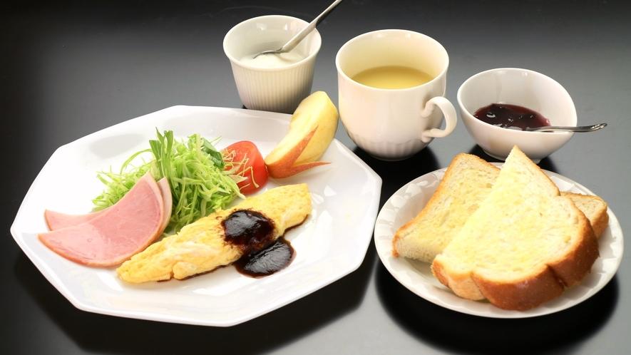 日替わりの洋朝食。オムレツメニュー