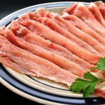 夕食和食ご当地ブランド「はくば豚」のしゃぶしゃぶ