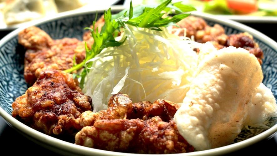 日替わり料理中華。鶏のから揚げ