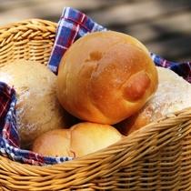 【朝食】自家製パン。