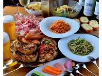 【コースお料理も!】大人数でのお食事用にコース料理も準備しています!
