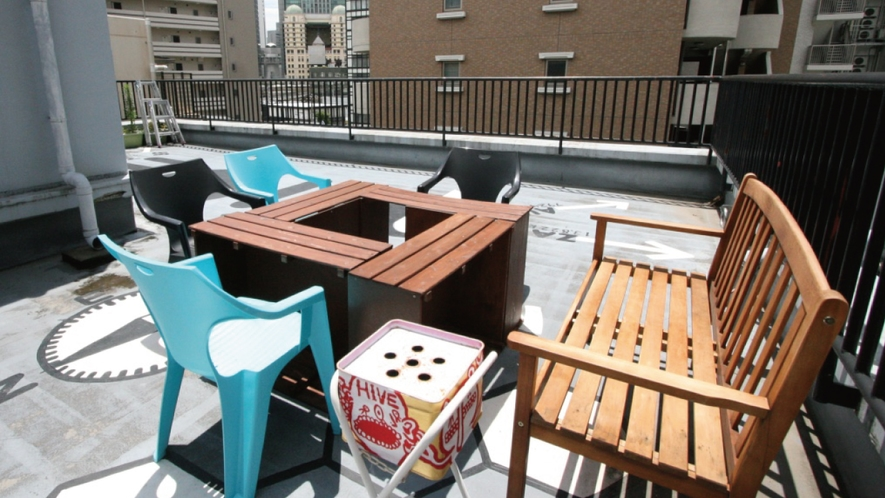 屋上での日光浴も人気♬