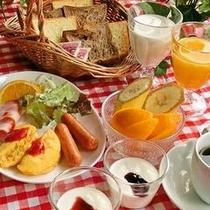 朝食(洋食盛付例)朝食は無料!バイキングでお召し上がりいただけます♪