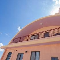 丸屋根が特徴的なメゾネット