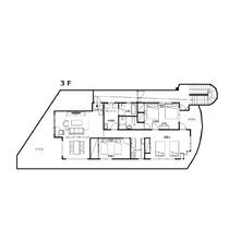 メゾンマックス3F平面図 104㎡ 3LDK 定員6名