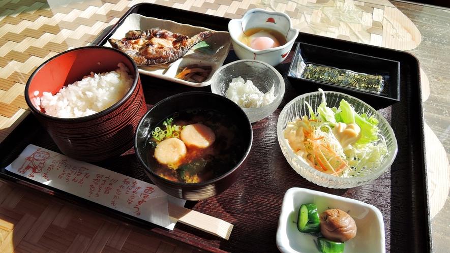 *<朝食>からだにやさしい和定食ながよ。
