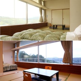 【富士山ビュー】和洋室(シングルベット×2+和室) T有