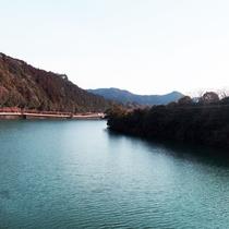 *【景観】お部屋から眺める那賀川の美しい景色