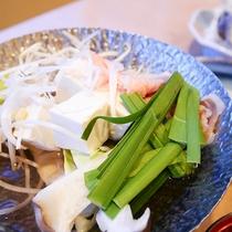 *【お料理】夕食一例。湯豆腐はヘルシーで年中人気もの♪