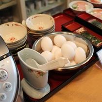 和食朝食の一例(バイキング形式)
