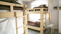 ・【女性専用ドミトリー一例】2段ベッド2台で1部屋4名様までお泊りいただけます