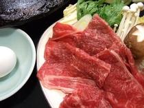 国産牛すきやき(オプション料理)