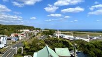 屋上からの眺め(空港まで徒歩1分)