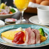 【アメリカンブレックファスト】白河産かぐや姫卵を使用した、クチコミ評価も高い自慢のホテル朝食
