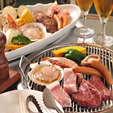 【夏季限定】芝生の上で楽しむ炭火焼のガーデンBBQ☆2食付プラン