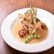 ディナー 魚料理 一例