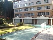 ホテル庭園