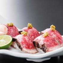 別注料理(国産牛のあぶり寿司)