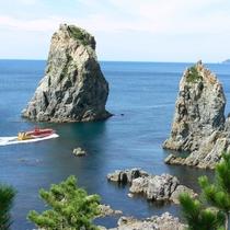 青海島観光船と海上アルプス