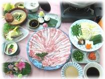 お料理例:宮崎銘柄豚のしゃぶしゃぶ