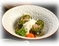 お料理例:名物瓦そば巻き