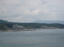 志布志湾に浮かぶリゾートホテル