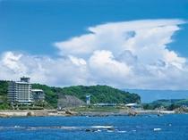 志布志湾に面した当館です!