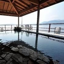 湖上露天風呂:朝陽 朝①