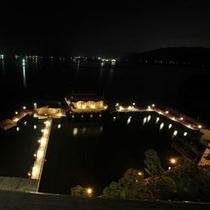 湖上露天風呂:屋上より 夜