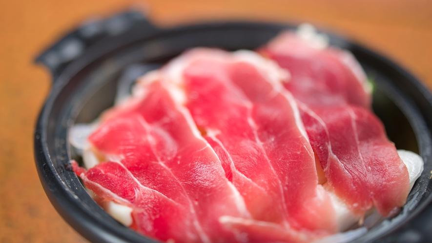 *夕食(しし鍋)一例