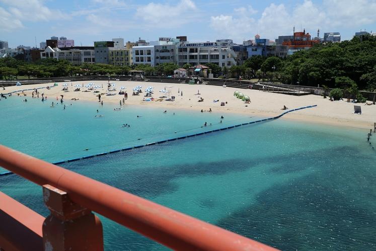 ホテル近く波之上橋からの景色6(波之上ビーチ若狭側)